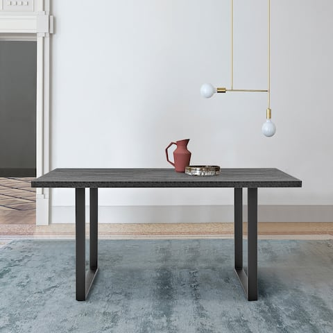 Fenton Dining Table with Charcoal Top & Metal Base