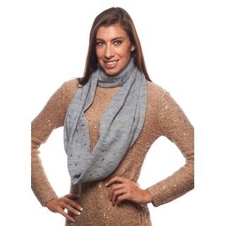 Toasty Life Studded Knit Infinity Scarf
