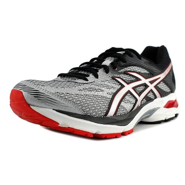 Asics Gel Flux 4 Men Glacier Grey/Silver/Vermilion Running Shoes