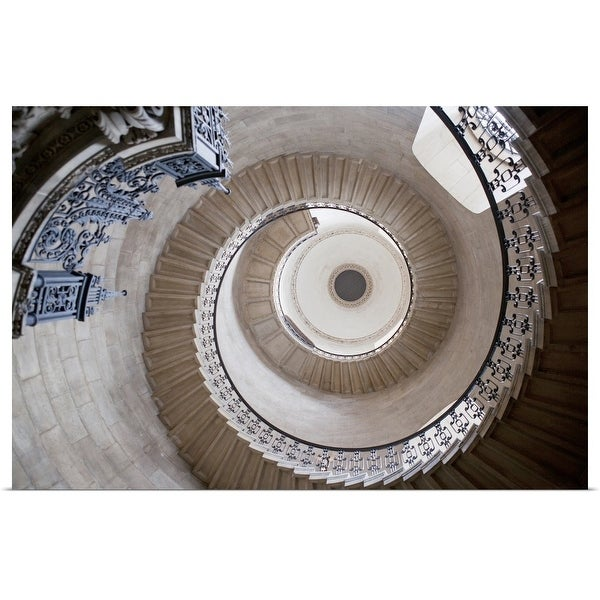 """""""Spiral staircase in ornate cathedral"""" Poster Print"""