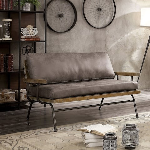 Furniture of America Lalitha Rustic 2-Seater Loveseat