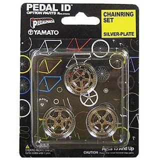 Pedal Id 1:9 Scale Bicycle: Chain Ring Set: Silver Plate - multi