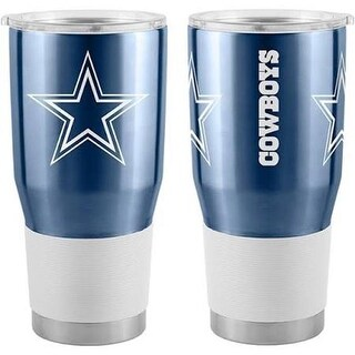 Caseys 8886045839 30oz Dallas Cowboys Travel Tumbler, Ultra Navy