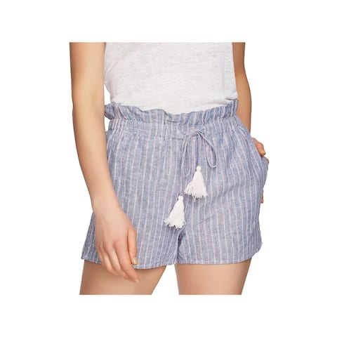 1.State Womens Shorts Paperbag Linen