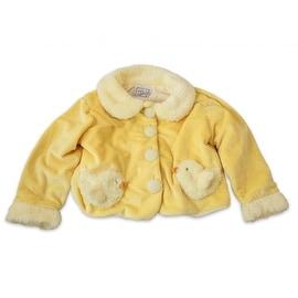 Fuzzy Wear Girls Chick Jacket, Yellow, 18