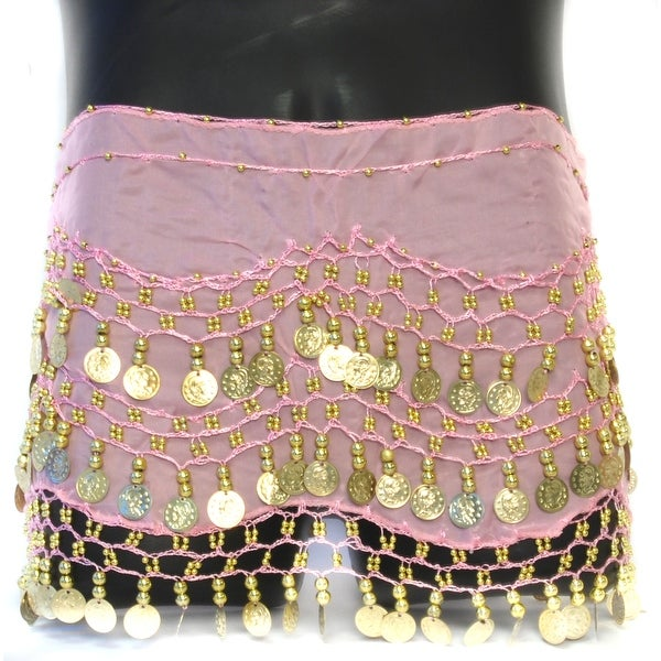 Coin Belly Dancing Wrap: Pink