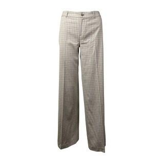 Lauren Ralph Lauren Women's Window-Pane Wool-Blend Pants