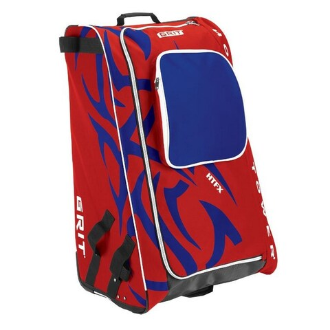 """Grit Inc HTFX Hockey Tower 36"""" Wheeled Equipment Bag Red HTFX036-MO (Montreal) - 36''h x 23''w x 18''d"""