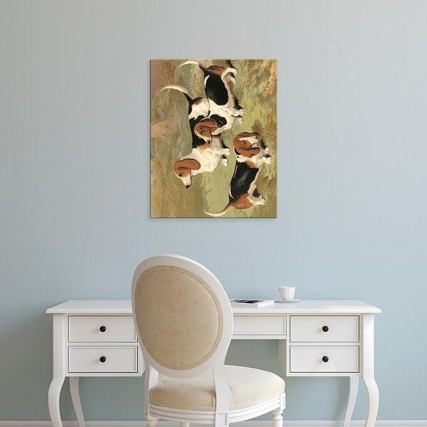 Easy Art Prints Vero Shaw's 'Basset Hounds' Premium Canvas Art