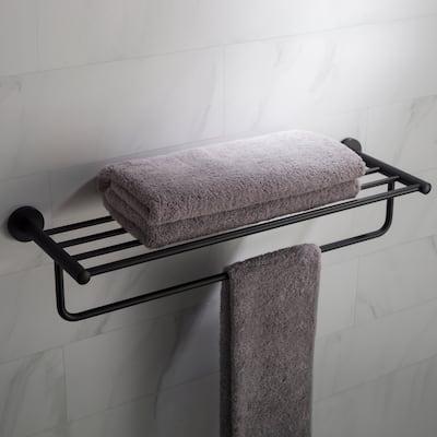 KRAUS Elie Bathroom Shelf with Towel Bar