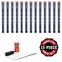 Winn Dri-Tac Standard Navy Blue - 13 pc Golf Grip Kit (with tape, solvent, vise clamp)