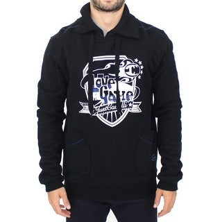 Cavalli Cavalli Black cotton pullover sweater