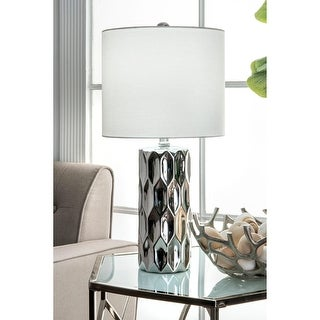 """Link to nuLOOM 22'' Oriana Ceramic Linen Shade Table Lamp - 22"""" h x 11"""" w x 11"""" d Similar Items in Table Lamps"""