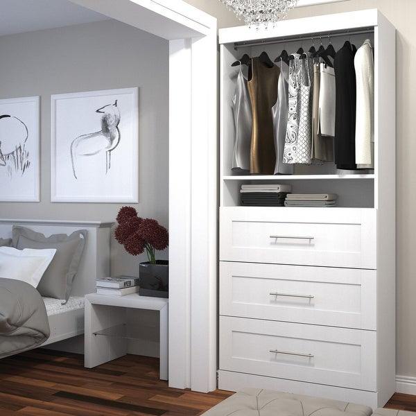 Pur by Bestar 36-inch Storage Unit with 3-drawer Set. Opens flyout.