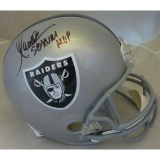 "Marcus Allen Autographed Oakland Raiders full size replica helmet ""MVP"" JSA"
