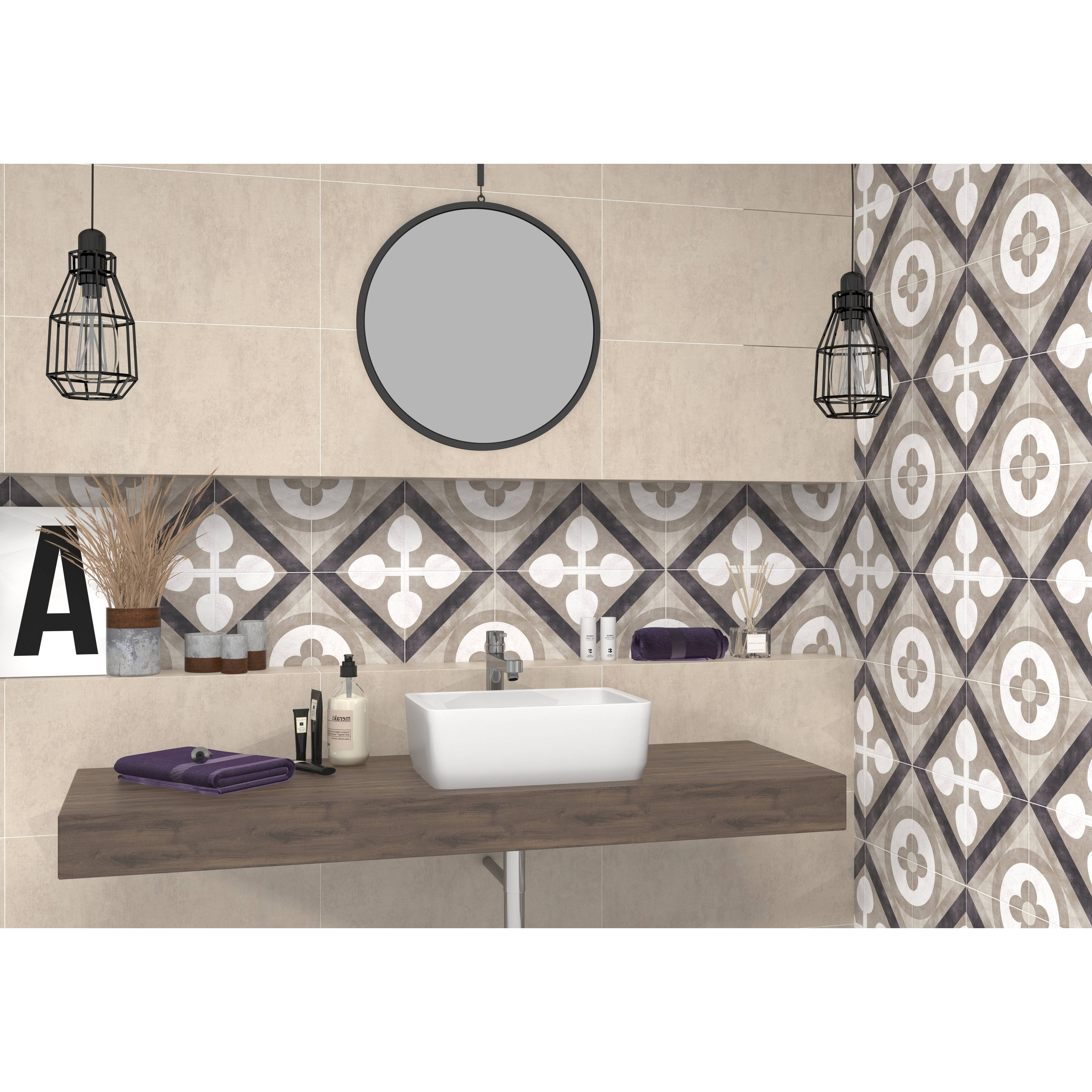 6x6 Joya Beige Porcelain Floor /Wall Tile (6.6 Sq. Ft./ 6 pcs box)
