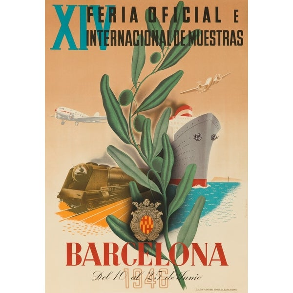Spain - Barcelona Bigorda 1946 Vintage Ad (Light Switchplate Cover)