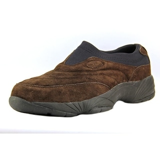 Propet Wash & Wear Slip-On II Men Round Toe Leather Brown Sneakers