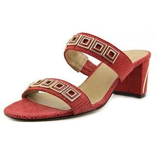 Vaneli Maureen Open Toe Leather Sandals