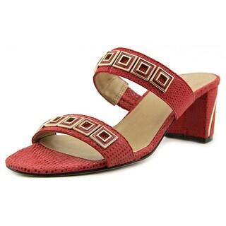Vaneli Maureen W Open Toe Leather Sandals