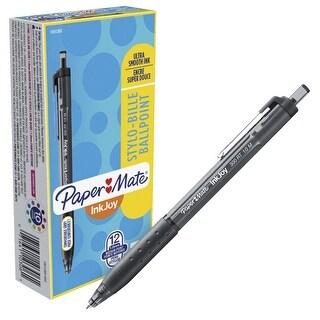 Paper Mate Inkjoy Ballpoint Stylo Pens, 1.0mm, Black, Box of 12