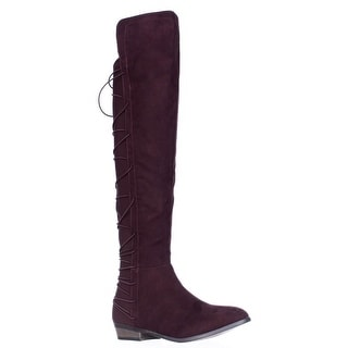 MG35 Cayln Over-the-Knee Strappy Boots - Wine