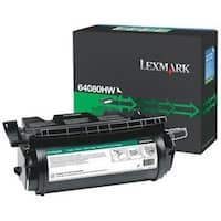 Lexmark 64080HW High Yield Toner Cartridge - Black - For T64x