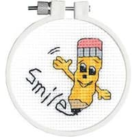 """3"""" Round 11 Count - Kid Stitch Smile Counted Cross Stitch Kit"""