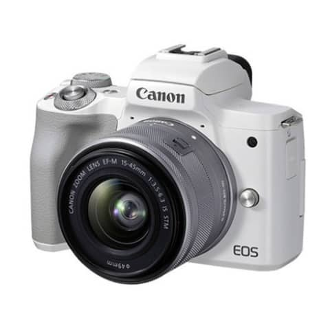 Canon EOS M50 Mark II Mirrorless Camera with 15-45mm Lens (White)