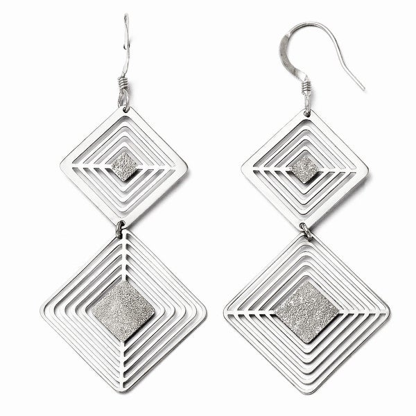 Sterling Silver Shepherd Hook Dangle Earrings