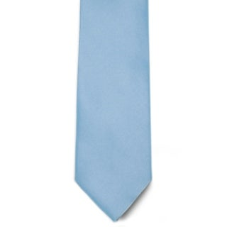 Men's 100% Microfiber Light Blue Tie