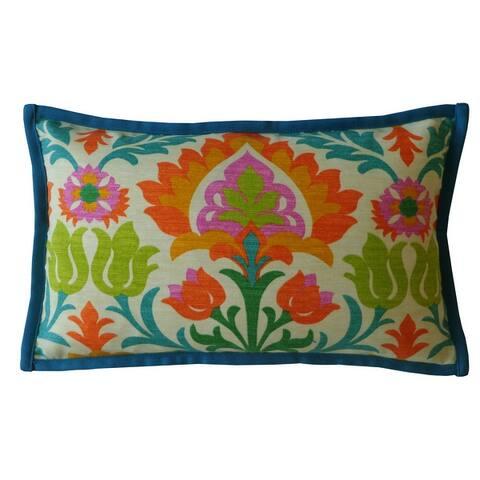 Jiti Multi Floral Classic Sunbrella Outdoor Pillows - 12 x 20