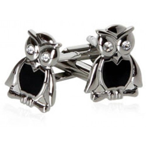 Wise Owl Bird Animal Wisdom Cufflinks
