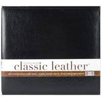 """Black - We R Classic Leather Post Bound Album 12""""X12"""""""