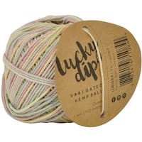 Lucky Dip Hemp Cord 1.0Mmx100m Ball-Pastel Variegated