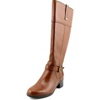 Bandolino Carllow Wide Calf Women Round Toe Leather Knee High Boot