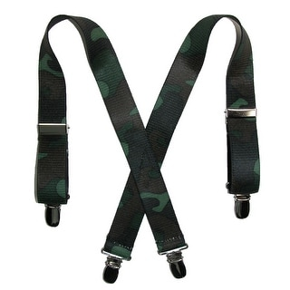 CTM® Infant Elastic 1 Inch Wide Clip-End Camouflage Pattern Suspenders - One Size