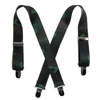 CTM® Kids' Elastic 1 Inch Wide Clip-End Camouflage Pattern Suspenders - One Size