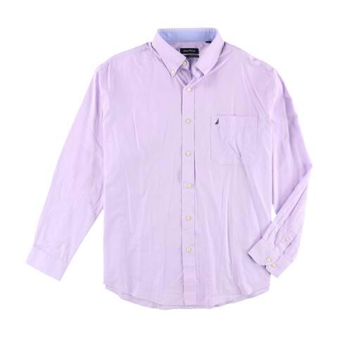 """Nautica Mens Ls Button Up Dress Shirt - 17"""" Neck 34-35"""" Sleeve"""