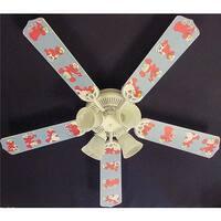 Mattel Baby Elmo Nursery Print Blades 52in Ceiling Fan Light Kit - Multi