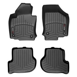 WeatherTech 442691-440802 Black Front & Rear FloorLiner: Volkswagen Golf / GTI 2010-11, Volkswagen Rabbit / GTI / R32 2006-09