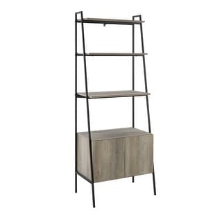 "Delacora WE-BDS72ARST  Minsk 28"" Wide Four Shelf Laminate, Wood and Metal Utility Shelf"