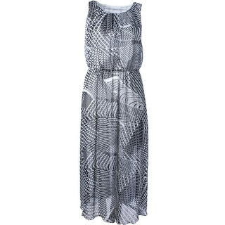 Calvin Klein Womens Plus Printed Lightweight Maxi Dress - 20W