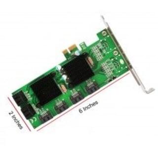 Syba PCI-Express 2.0 x1/ 8-Port Internal SATA 6G Non-Raid Cardwith Low Profile Bracket Marvell 88SE9215+88SM9705 Chipset