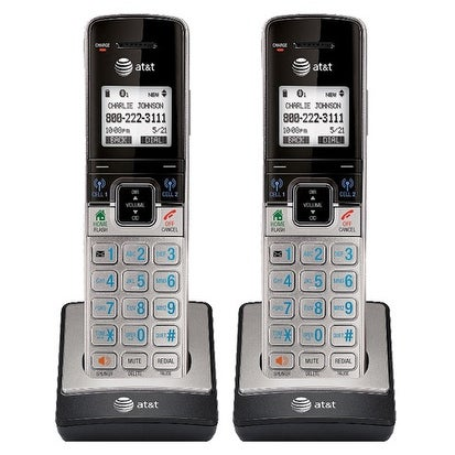 AT&T TL90073 DECT 6.0 1.9GHz Extra Handset / Charger with Caller ID 2 Pack