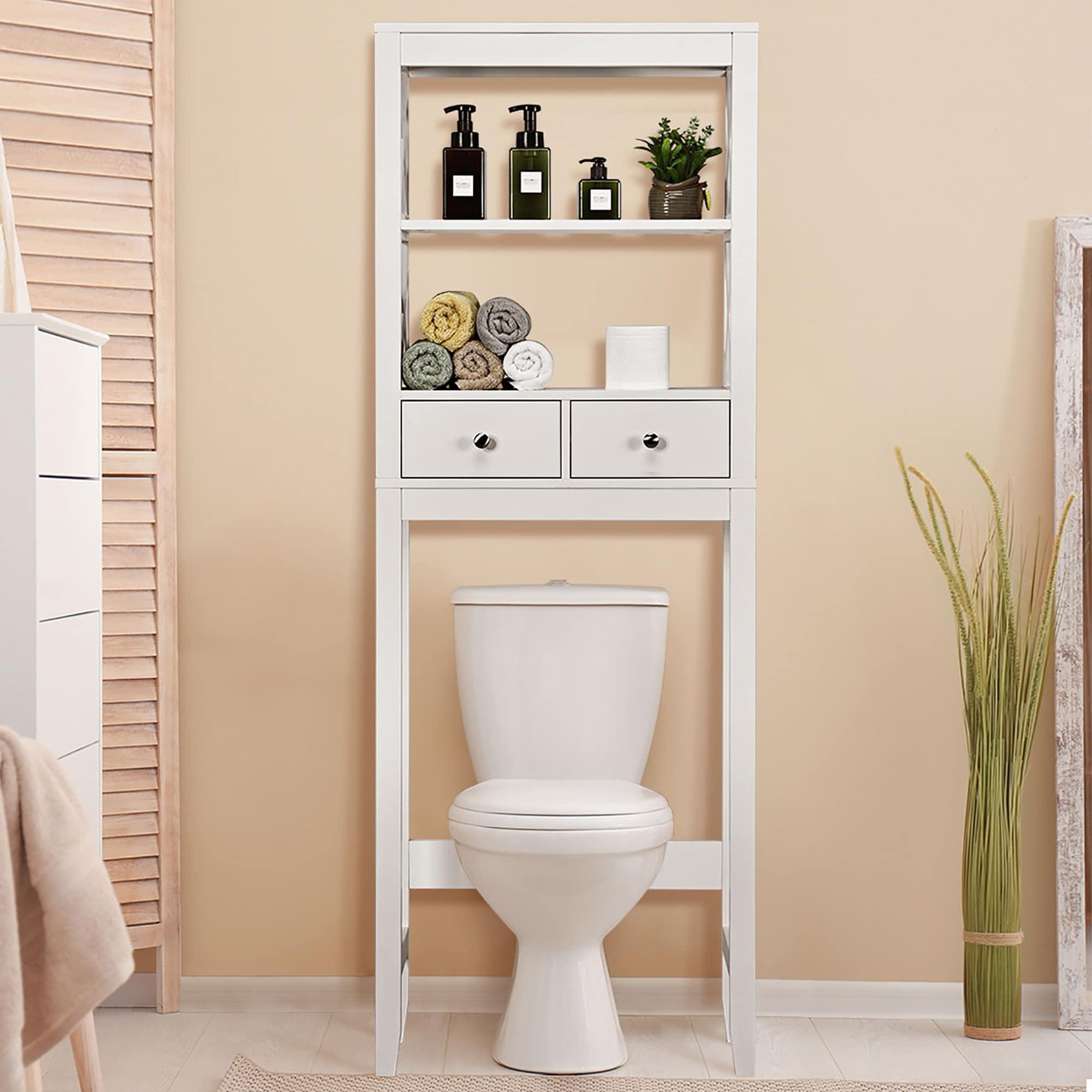 Shop Over The Toilet Storage Rack Bathroom Space Saver Overstock 32248591