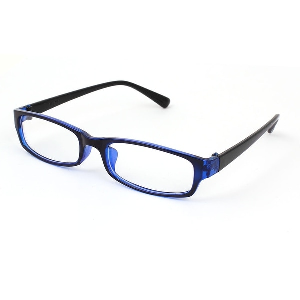abf1ce03eb3 Unique Bargains Ladies Black Blue Plastic Full Frame Clear Lens Plain  Glasses Eyeglasses