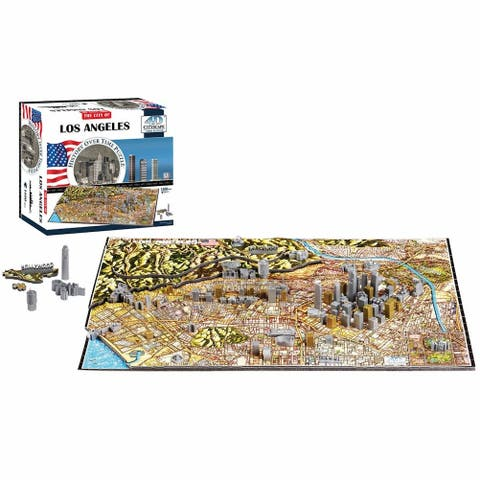 4D Cityscape Puzzle - Los Angeles - Architectural Jigsaw Puzzle with Time Layer - Multicolor