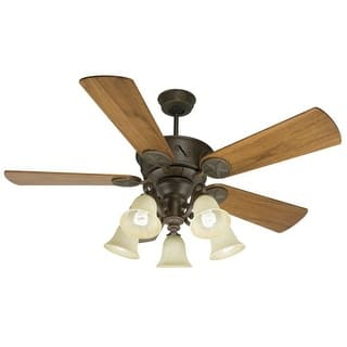 Craftmade ceiling fans for less overstock craftmade k10409 chaparral 54 5 blade indoor ceiling fan blades and light kit included aloadofball Gallery