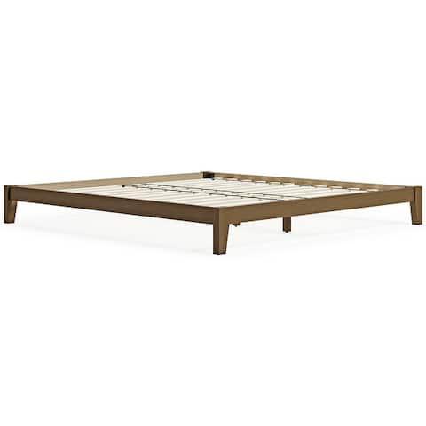 Tannally Light Brown Platform Bed